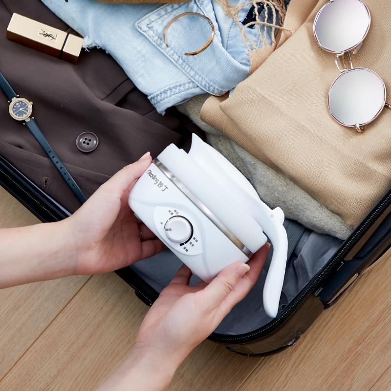 妙丁 FS-01旅行折叠电热水壶迷你便携式烧水壶小型硅胶烧水自动