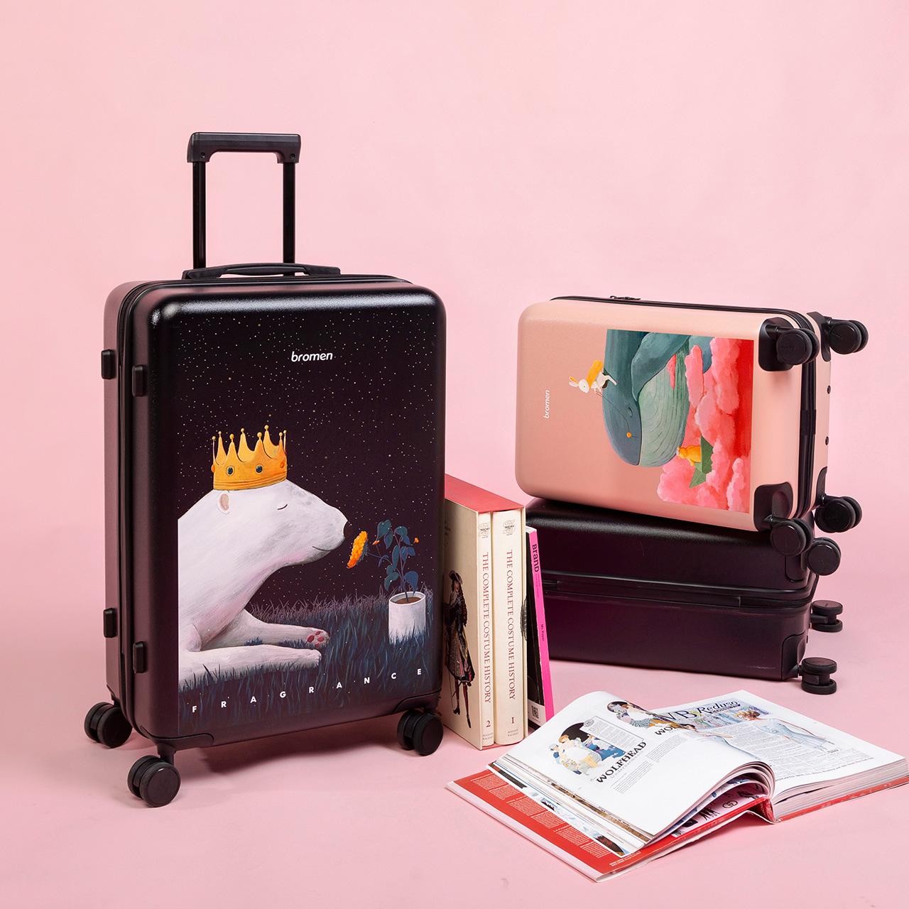 不莱玫X刘海轮20寸行李箱女小型轻便可爱24拉杆箱登机旅行箱子大