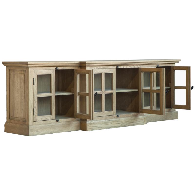 美式乡村实木电视柜橡木法式乡村做旧试听柜北欧电视柜