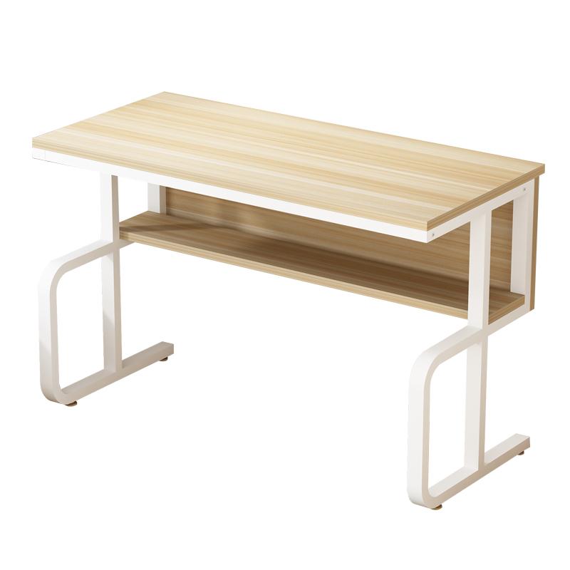 電腦辦公桌家用簡易靠墻書桌寫字臺臥室學習桌現代簡約收納桌子
