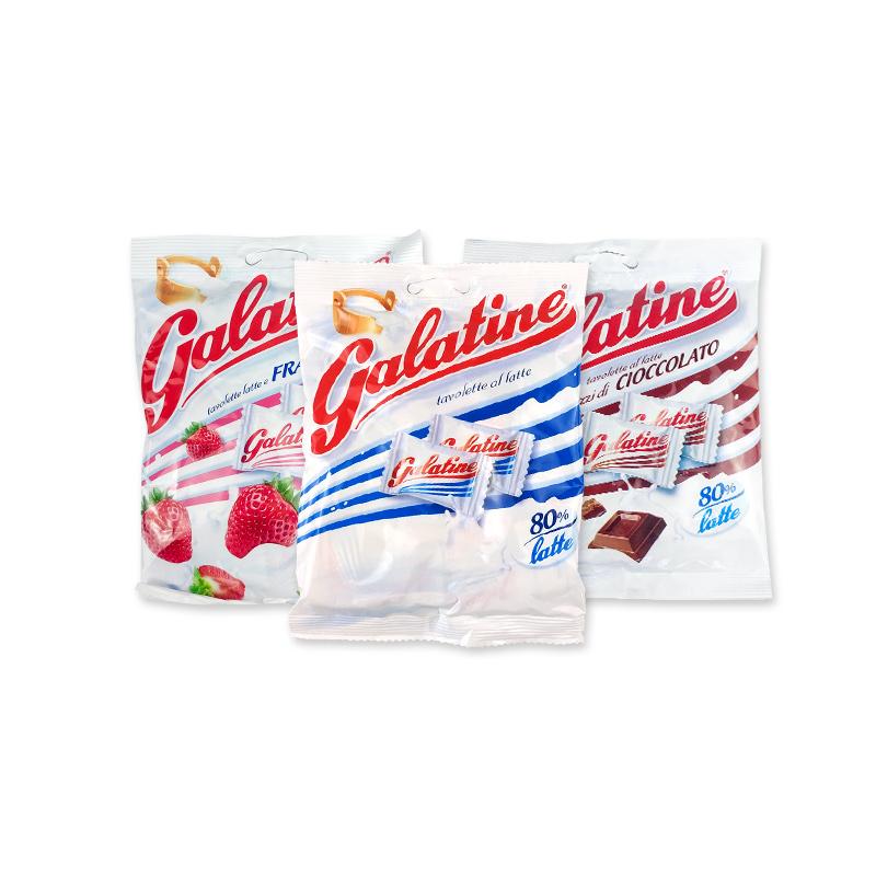 意大利进口佳乐定galatine宝宝含钙牛奶糖婴儿奶片儿童钙片125g