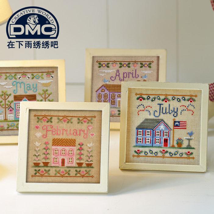 法國正品DMC十字繡 精準印花新手兒童雜誌新小幅手工 12月小房子