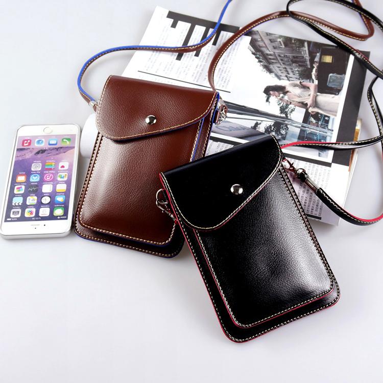 可裝6.5寸大屏手機包簡約百搭斜挎小包女迷你零錢挎包雙層手機袋
