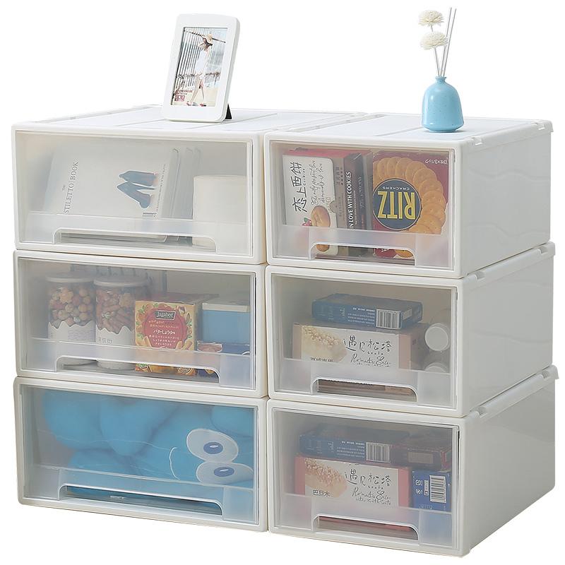 抽屉式收纳箱塑料透明箱子衣服收拉箱储物箱衣物整理箱衣柜收纳盒