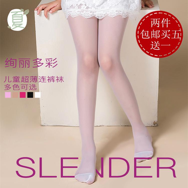 夏天女童可愛絲襪褲襪防勾絲連褲襪超薄兒童夏季薄款白色舞蹈襪子