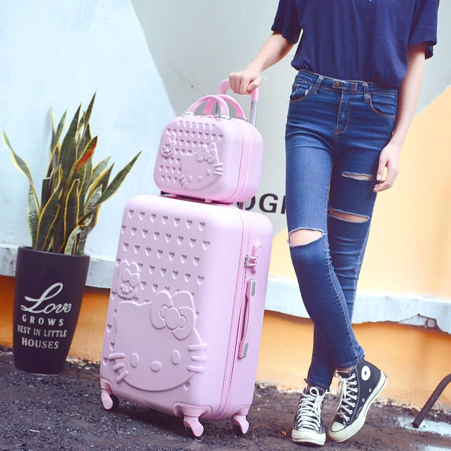 韩版拉杆箱小清新旅行箱女儿童行李箱22寸24寸26寸学生皮箱子母箱