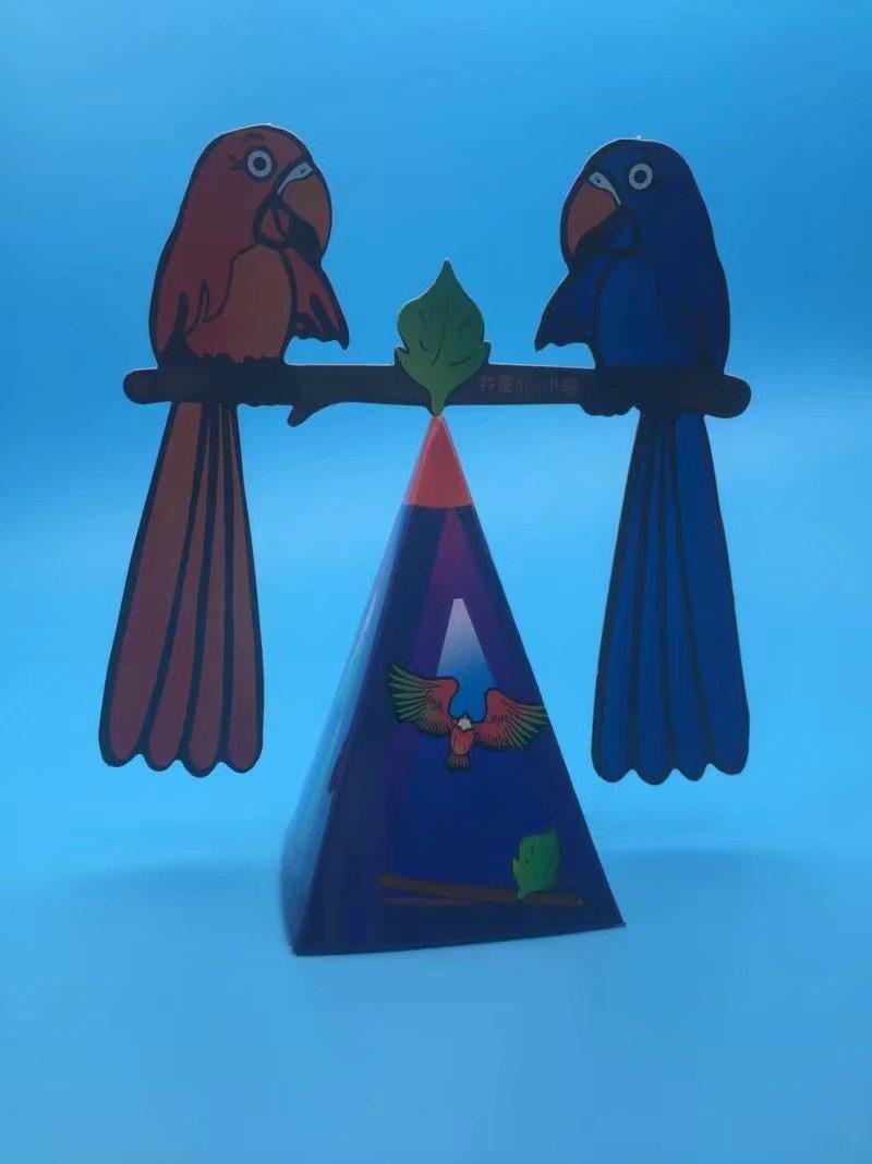 diy科技小制作手工小发明创造平衡鹰重力鸟拼装玩具科学实验器材