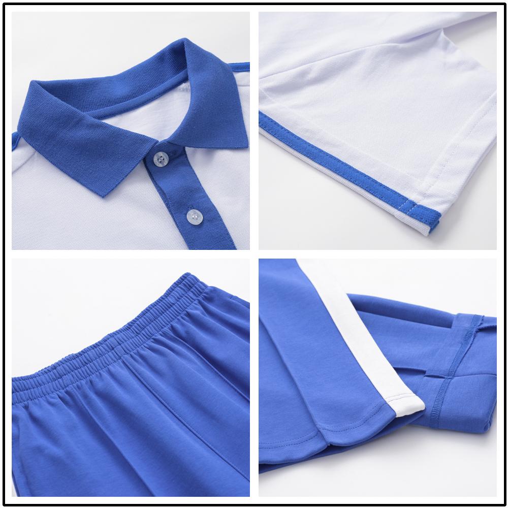 深圳市小学生校服长裤统一正品男女款短袖上衣春夏装夏季运动套装