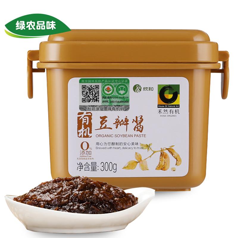 【绿农品味】禾然有机豆瓣酱 山东欣和配料黄豆小麦 不辣大酱300g