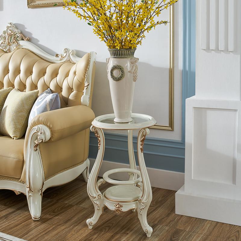 美得林 置物架家用法式花架室内全实木雨伞架落地式创意置物架MG
