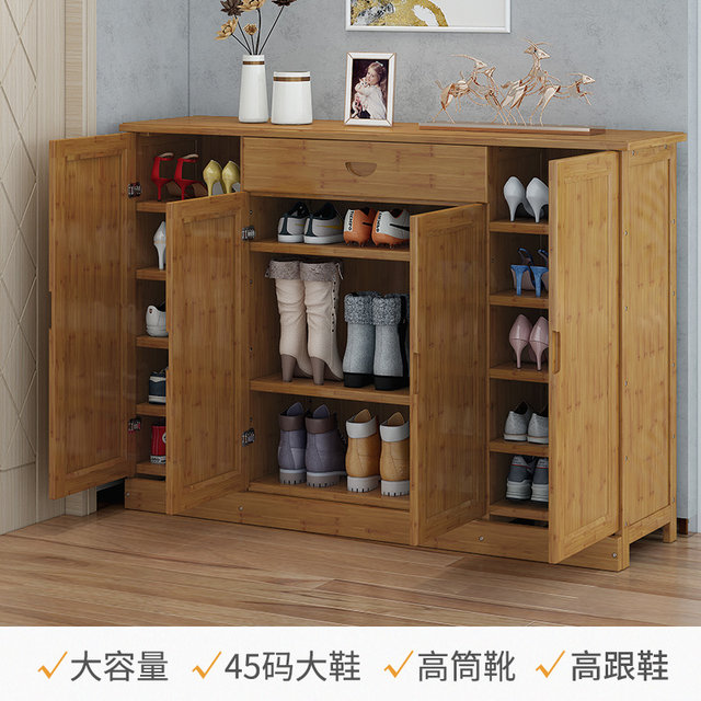 The shoe cabinet receives the simple shoe shelf at the door of the household multi-layer economic solid wood breathable porch cabinet dormitory shelves