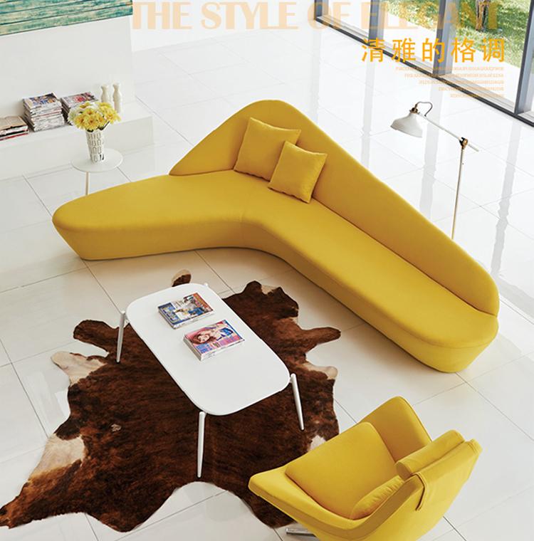 大堂月亮沙发 创意沙发组合 圆型沙发弧形异形 酒店大厅办公沙发