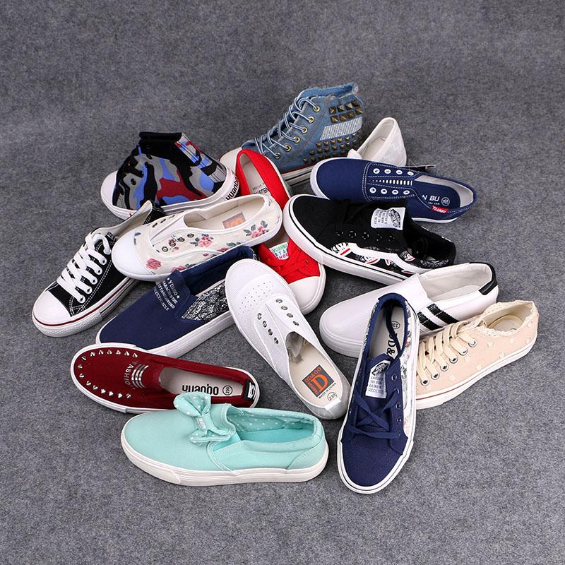 可玲兒sky斷碼清倉白菜價處理鞋帆布鞋女學生韓版休閒板鞋女鞋