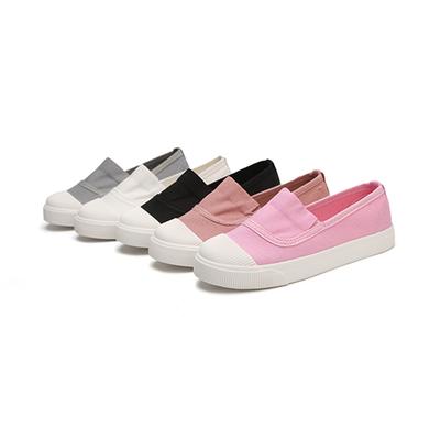 儿童帆布鞋一脚蹬童鞋男女童布鞋