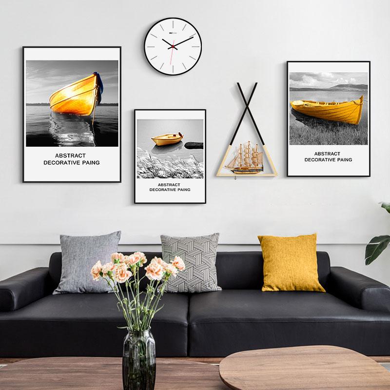 风格客厅装饰画创意组合挂画大气沙发背景墙壁画 ins 现代简约北欧