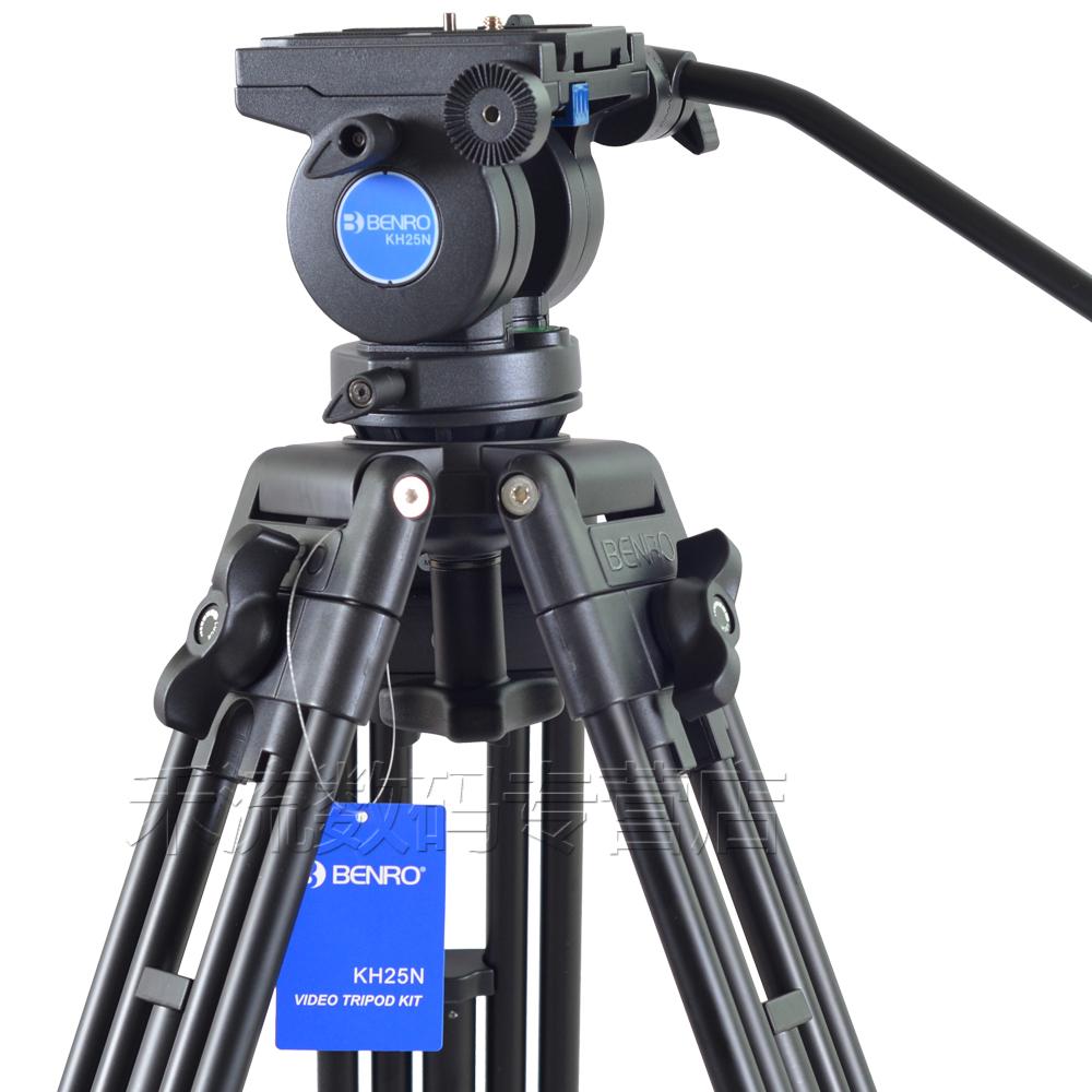 百诺专业三脚架液压阻尼云台摄像机佳能5D4尼康D850索尼A7R4单反微单摄影三角架视频录像直播便携支架KH25N
