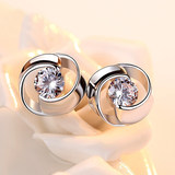 Pt950 platinum earrings female 18k white gold earrings earrings lucky clover simple authentic jewelry