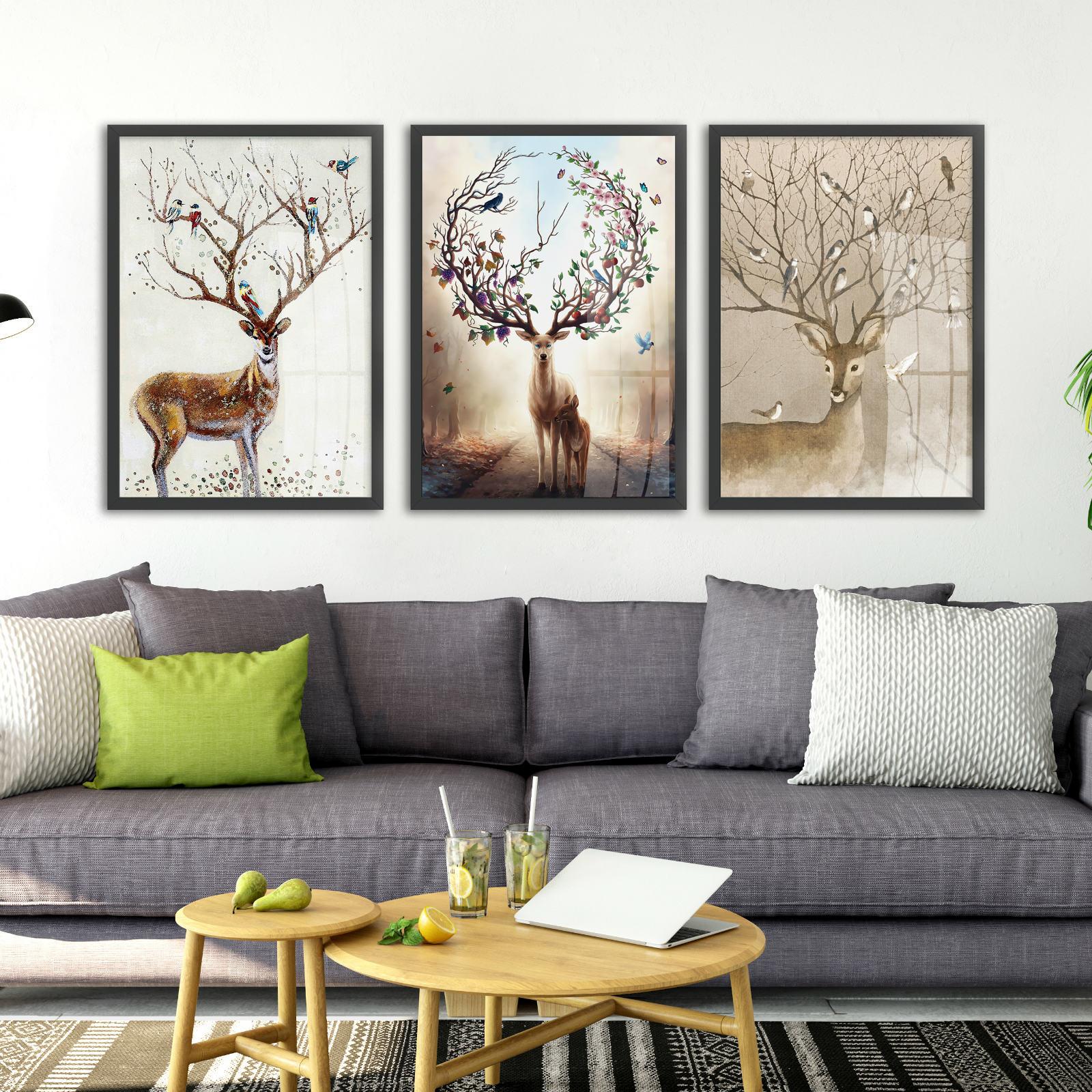 北欧客厅沙发背景装饰画卧室壁画现代简约风格挂画玄关餐厅墙画
