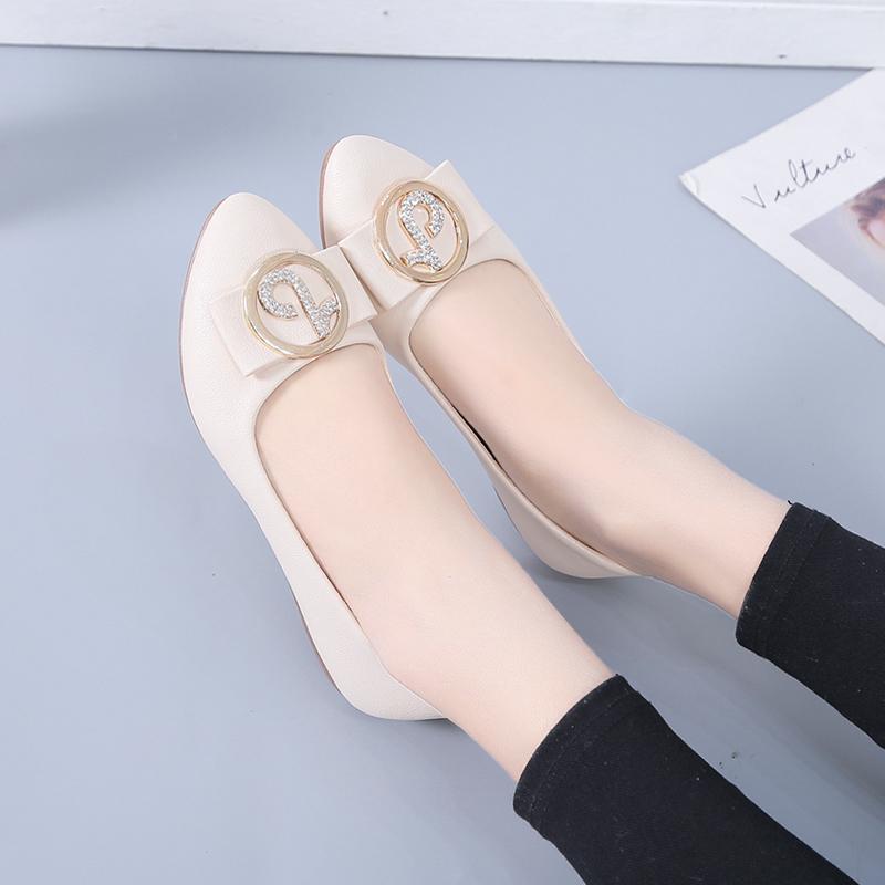 性感气质尖头平底鞋女2021秋季新款浅口黑色韩版百搭瓢鞋单鞋女鞋