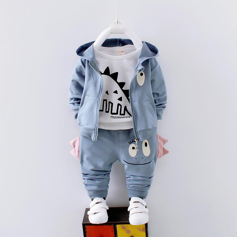 2019童装春装0-1-2-3岁男宝宝女套装婴童幼长袖三件套装