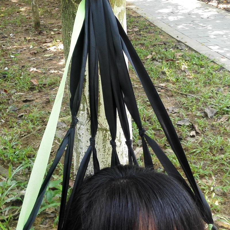 网孔吊床网状吊床网格带吊床透气通风轻便单人公园 庭院休闲吊床