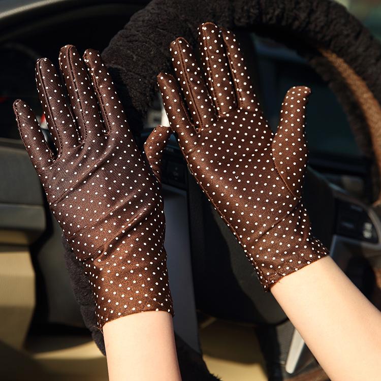 夏季氨纶袖套开车防晒礼仪手套透气薄款电动车女骑车防紫外线批发