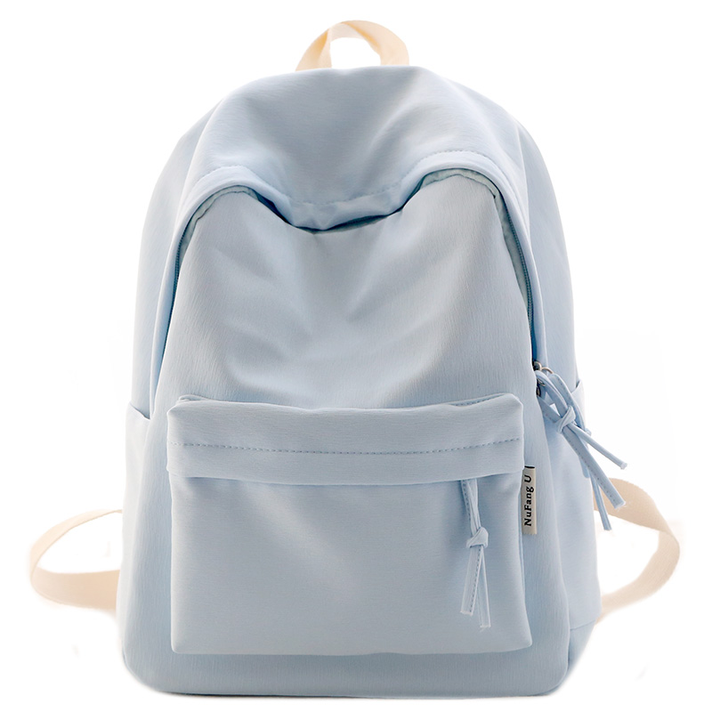 纯色时尚小清新背包女双肩中学生书包女韩版休闲双肩包 NR 新品