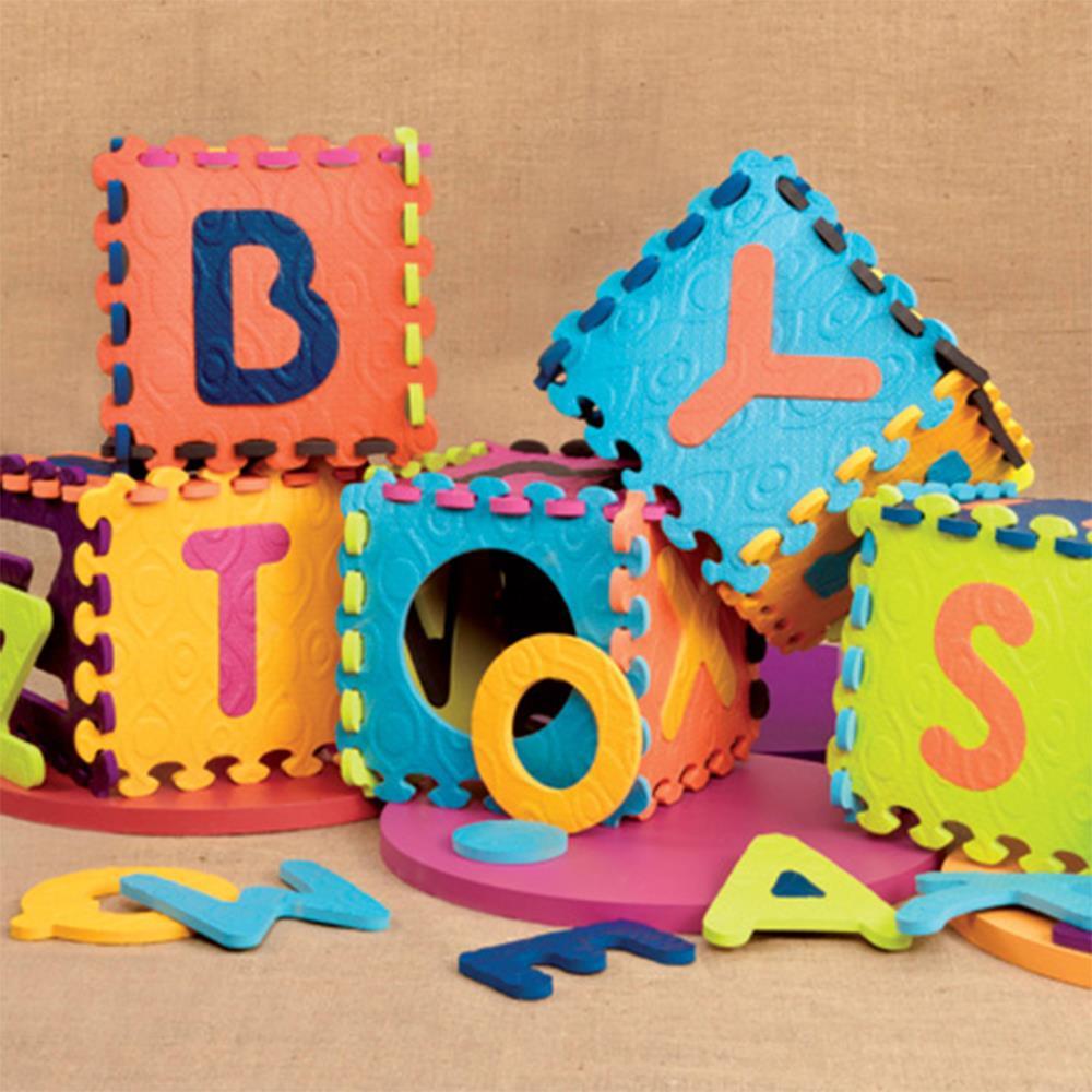 美国B.toys宝宝字母爬行垫加厚婴儿爬爬垫环保地垫地毯儿童拼接