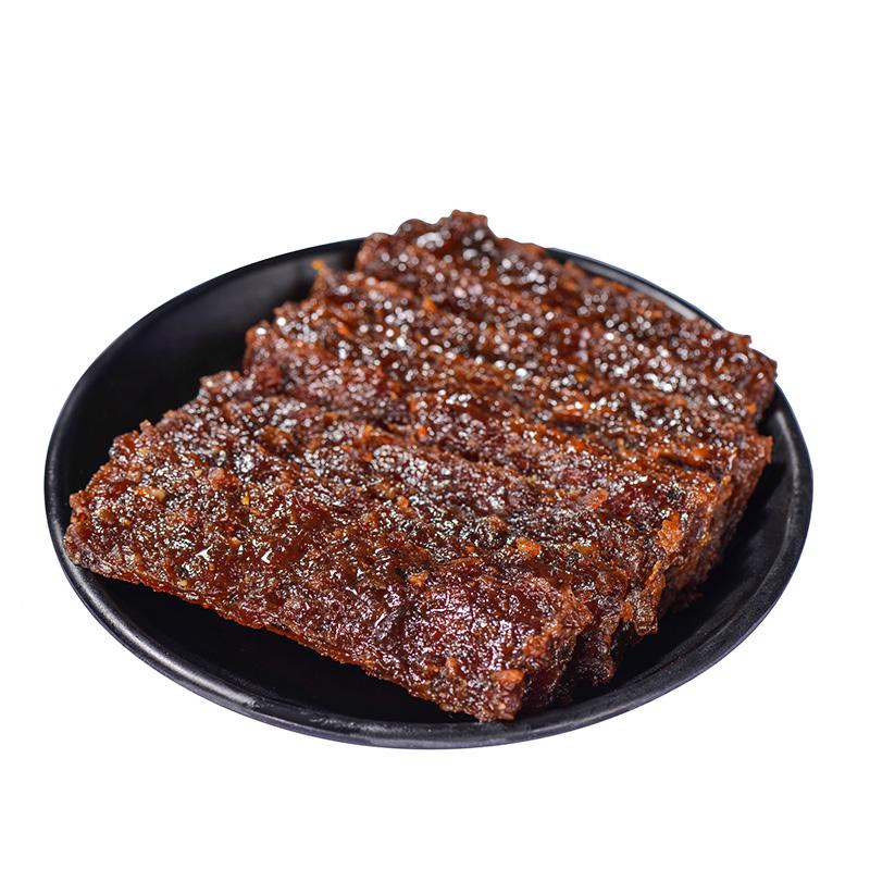 牛厨零食牛肉脯78g 黑椒果汁味肉干小包装休闲深圳特产 推荐小吃