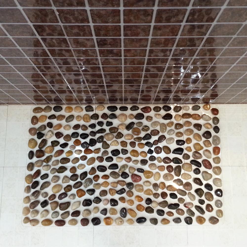 天然密雨花鹅卵石足底浴室按摩垫路脚底按摩石头子穴位防滑洗澡垫