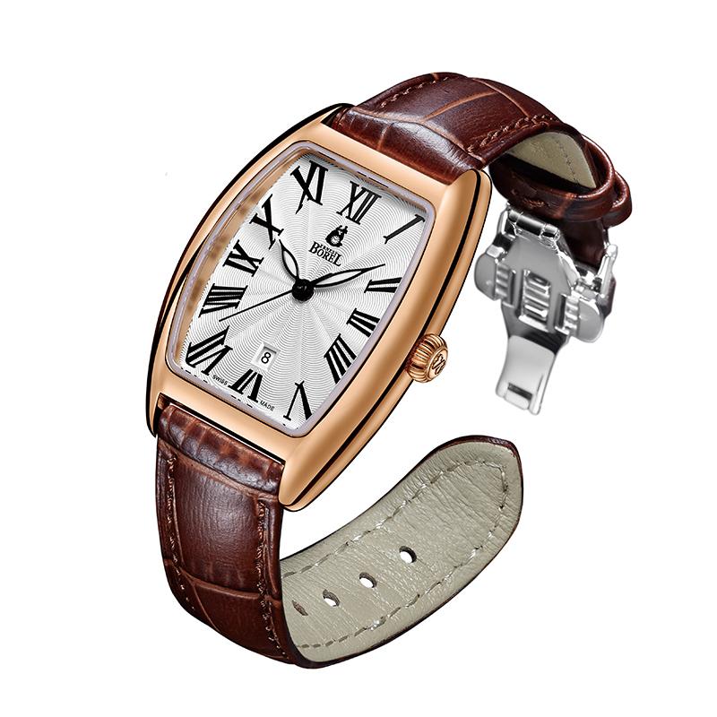 瑞士进口依波路Ernest Borel复古时尚休闲皮带女式腕表经典情侣款