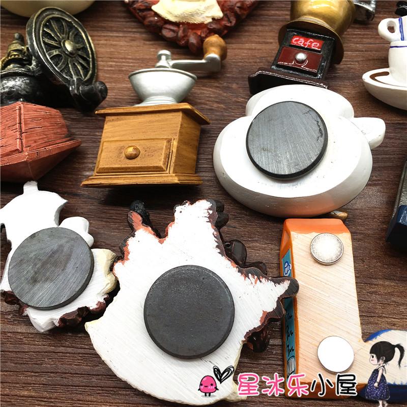 咖啡杯咖啡壶咖啡豆咖啡机冰箱磁姓贴 出口欧洲咖啡系列 包邮 48 满