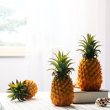 Simulation of pineapple ornaments Fruit model toys Food fake pineapple props Simulation plastic vegetable model decoration