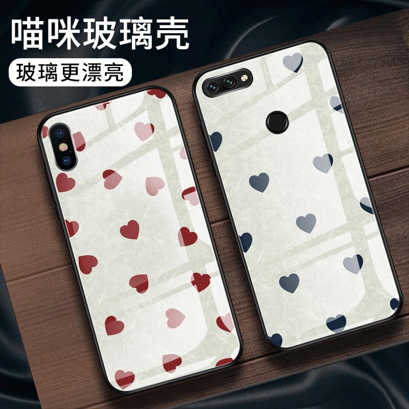 玉石爱心  苹果X手机壳iphone6splus手机壳XS Max钢化玻璃壳iPhone8男女款全包7plus玻璃套XR软套5s网红情侣