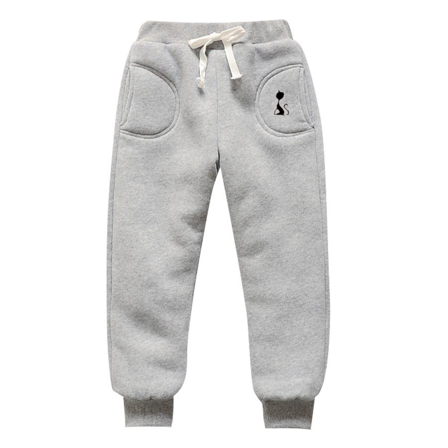 儿童秋冬季外穿保暖棉裤子中小男童女童冬装加绒加厚运动裤长裤