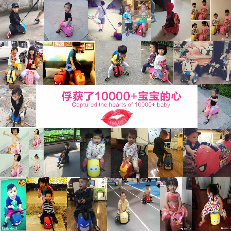 美国VRUM 可坐可骑儿童6岁卡通旅行箱宝宝可登机多功能行李箱男女