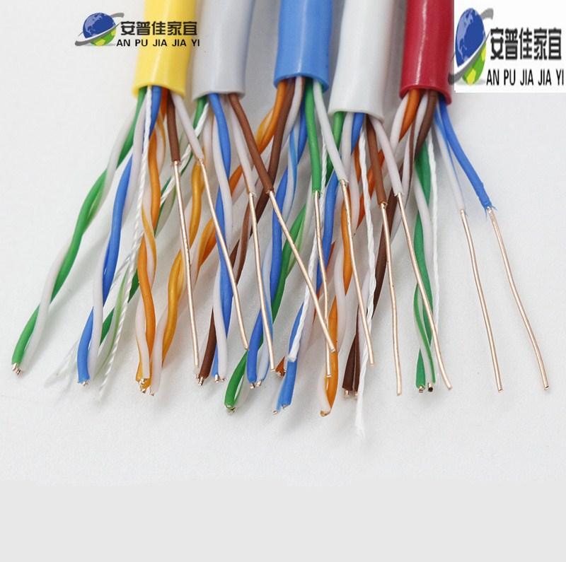 室外纯铜超五类网线无氧铜千兆家用高速户外监控防水网络线300米
