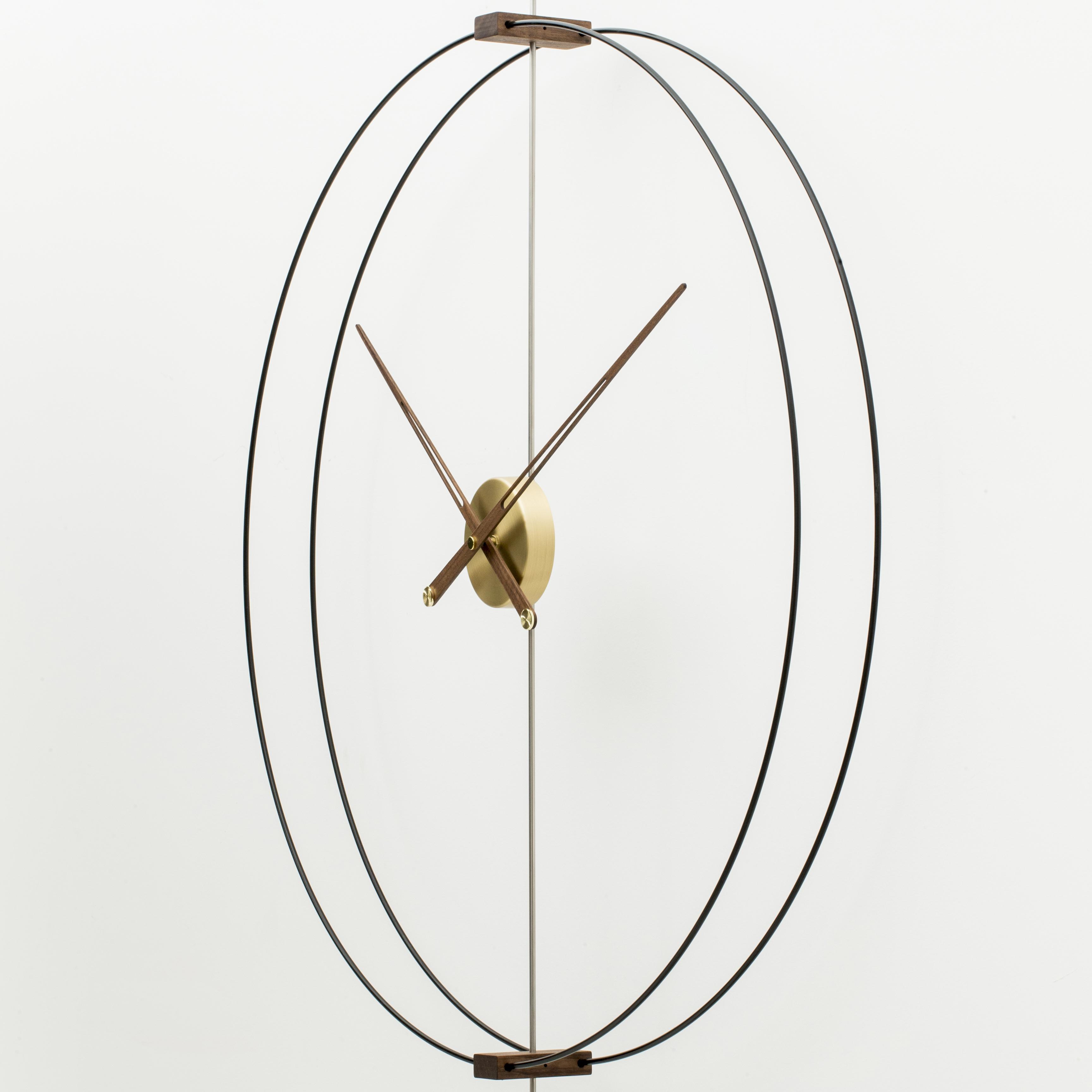 现代个姓创意北欧美西班牙极简约样板间客厅实木超大指针挂钟表