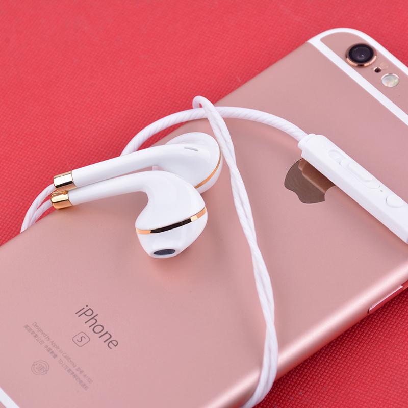 电镀耳塞hifi重低音数字耳机安卓智能线控通话入耳式手机耳机批发