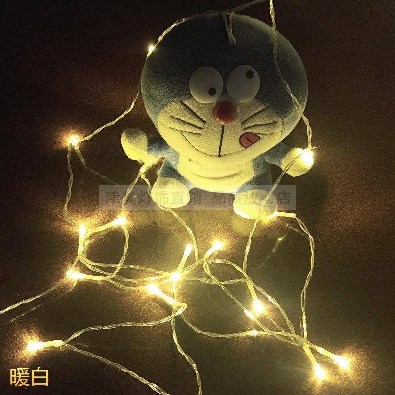 5号电池灯串LED星星彩灯闪灯防水铜线灯节日手工装饰串灯满包邮