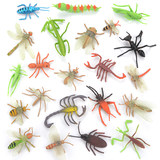 Children Insect Toy Plastic Simulation Animal Model Spider Butterfly Bee Centipede Ant Size Decoration Set