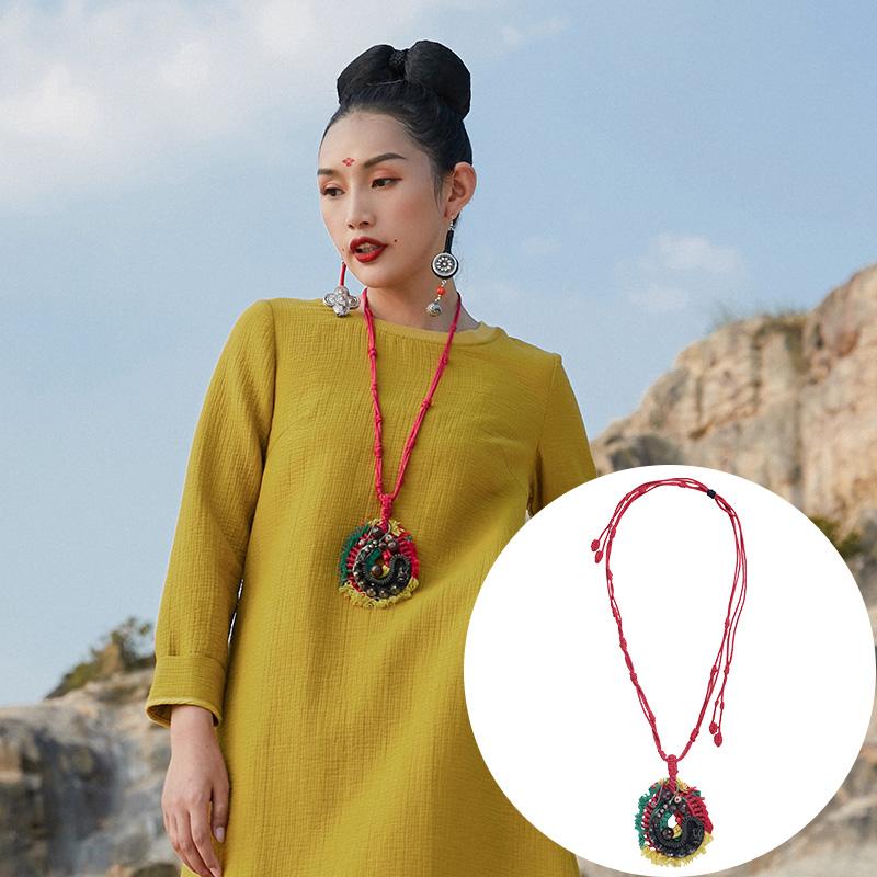 杨丽萍设计原创复古民族风潜龙手编项链吊坠项圈