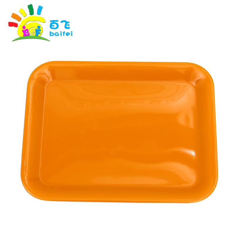 大号幼儿园玩具 蒙氏教具塑料托盘 颜料调色盘 儿童早教区域材料