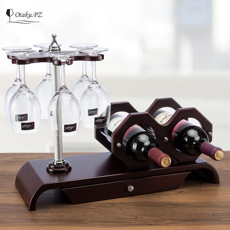精裝商務實木酒架紅酒架創意歐式葡萄實木酒架酒杯架倒掛酒櫃擺件