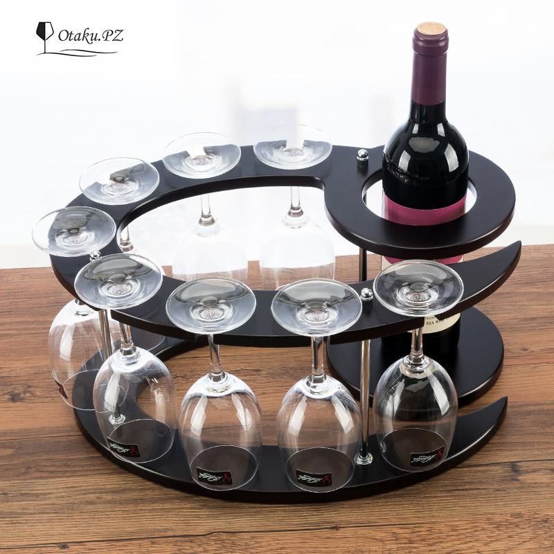 特價酒架紅酒架實木葡萄酒架歐式時尚酒杯架高腳杯子架酒瓶架擺件