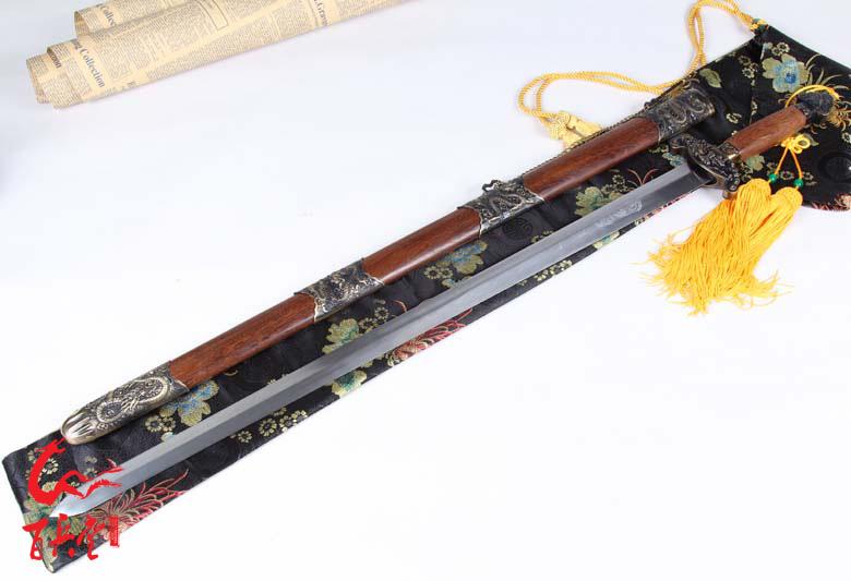 龙泉百兵堂宝剑中国十大名剑赤霄剑硬剑未开刃家居精品摆设送朋友