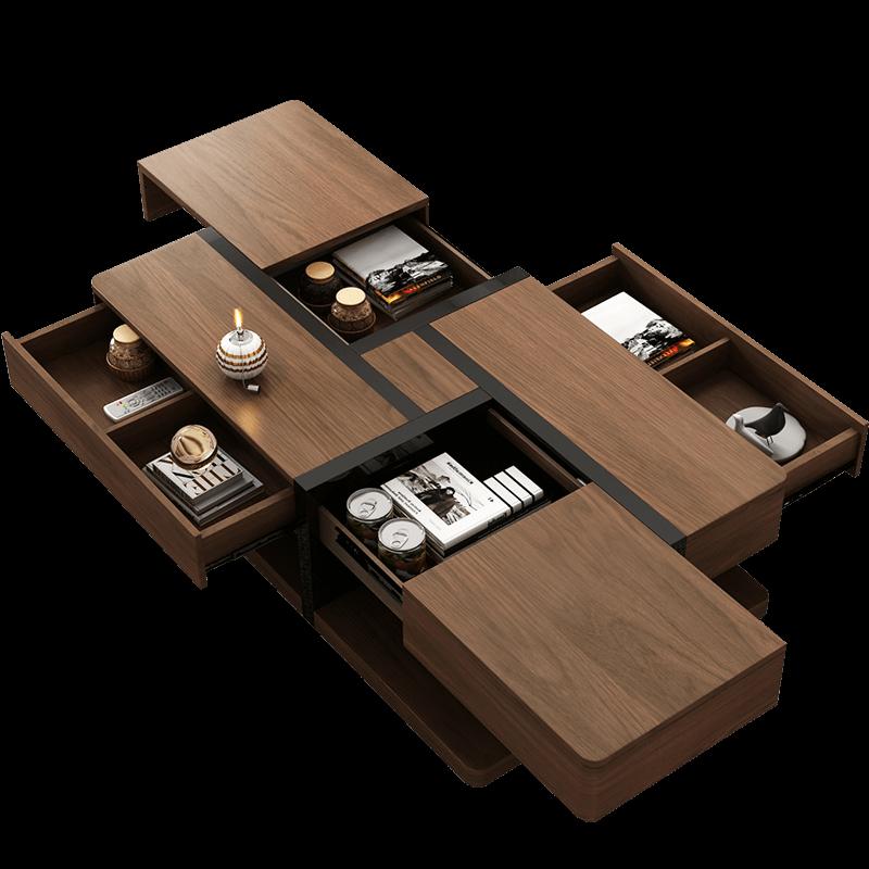 北欧多功能个性创意茶几电视柜组合简约现代小户型客厅家具套装