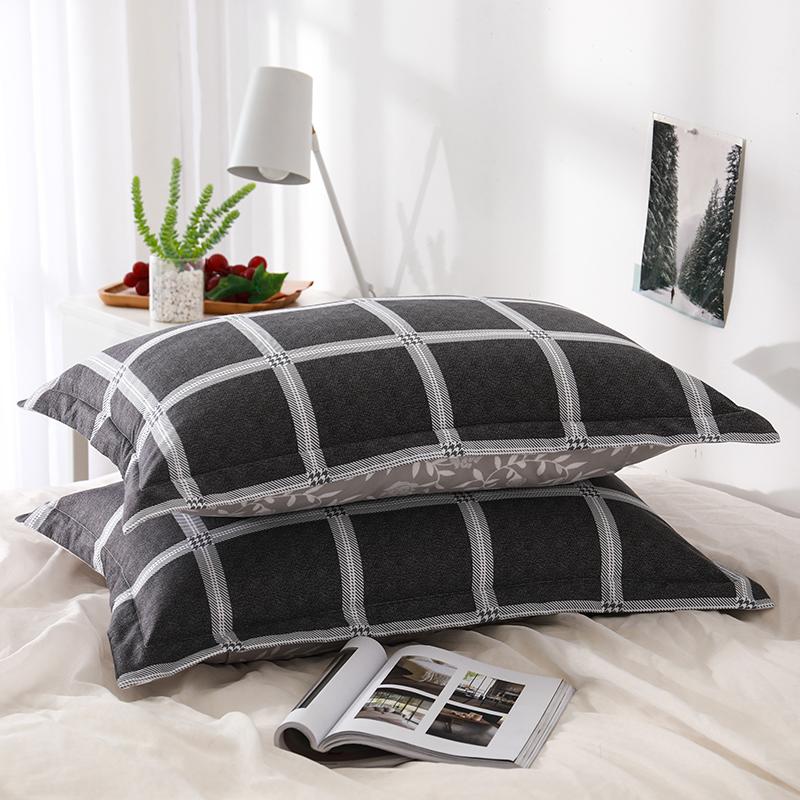 枕套一對裝A版全棉B版水洗枕芯套雙人單人枕用夏季純棉枕頭套兒童