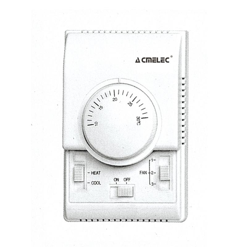 中央空調控制面板三速開關水系統風機盤管溫控器控機械膜盒包郵