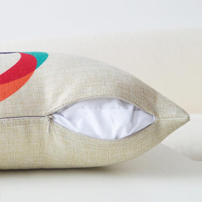 北极绒长形腰枕棉麻抱枕麋鹿长方形北欧简约色彩长条腰枕汽车靠垫